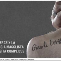 """Una campaña de la Generalitat """"da la espalda"""" a la violencia machista"""